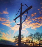 cross overlooking property